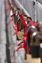 Love lock. Great wall of Badaling,Beijing,China.