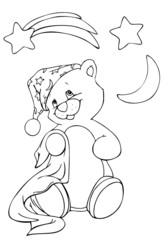 Teddy, Bär, Teddybär, Pyjama, Schlafanzug