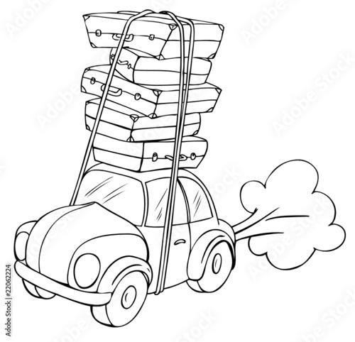 auto umzug reise urlaub koffer berladen stockfotos und lizenzfreie vektoren auf fotolia. Black Bedroom Furniture Sets. Home Design Ideas