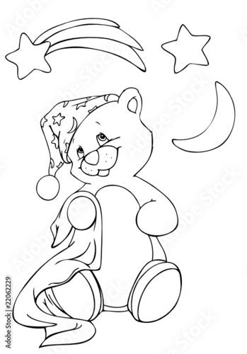 fototapete teddy bär teddybär pyjama schlafanzug