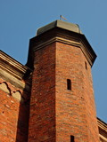 Brick turret with copper roof poster