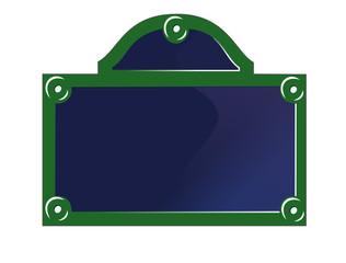 Panneau, plaque de rue Paris France
