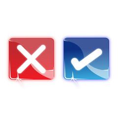 Picto refuser accepter - Icon cancel validate