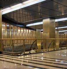 Empty business center hall