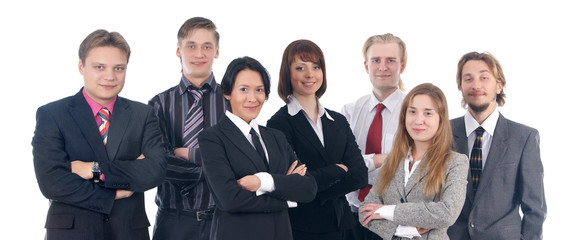 Group portrait of a young business team