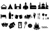 Fototapety Touristic icons -  landmarks, accommodation, culture