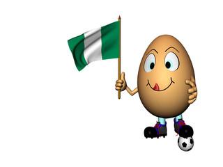 Uovo calciatore contento