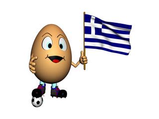 Uovo con bandiera