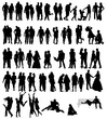 Сouple people silhouettes