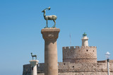 Colossus of Rhodes island