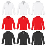 Polo shirts with long sleeves poster