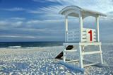Fototapety Lifeguard Hut on Beach