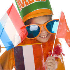 a football supporter of the dutch team