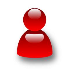 icona utente rosso