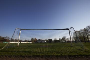 Fußballplatz mit Tor