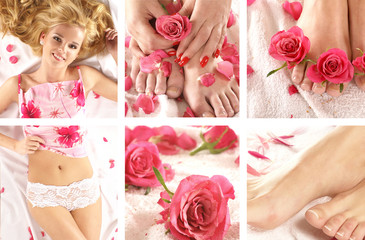 Luxorious images of a young and attractive blond woman