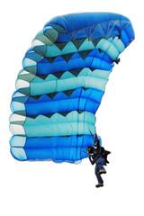 The girl under a parachute