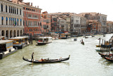 Gondolas floating on the canals of Venice