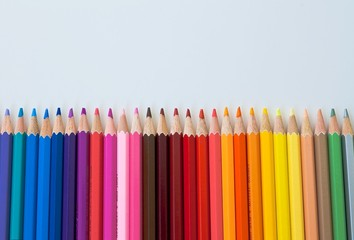Row of Pencils - Bright Palletes
