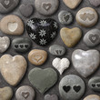 Quadro Heart shaped stones and rocks