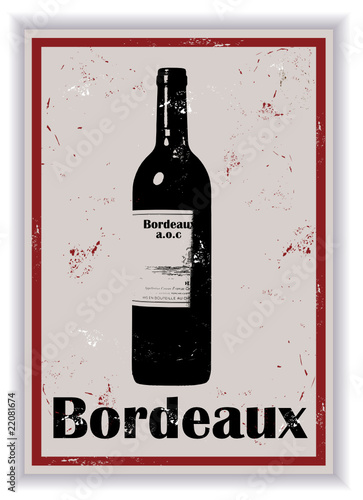 Etiquette de bouteille de vin Bordeaux