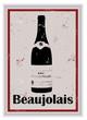 Etiquette de bouteille de vin Beaujolais