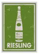 Etiquette de bouteille de vin d'Alsace