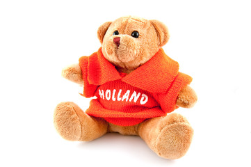 Football mascot holland for WK