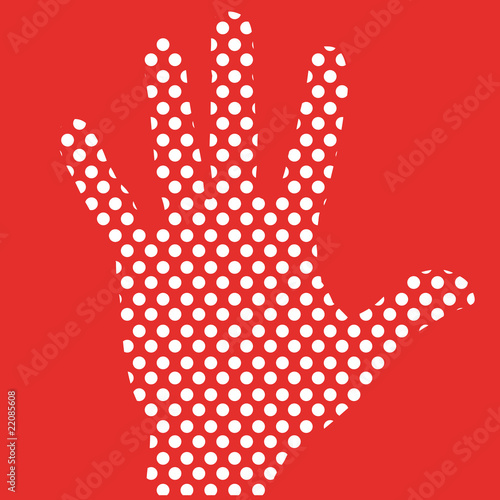 simple line illustration of hand vector.
