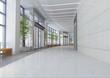 futuristic corridor modern office. 3D render - 22086069