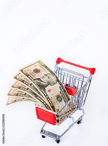 money and shopping cart