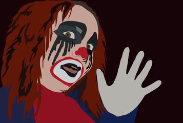 frightful clown