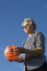 grandmother with the ball