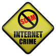 "Warning Sign ""Internet Crime"""