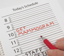 Calendar reminder mammogram
