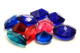 Plastic gemstones poster