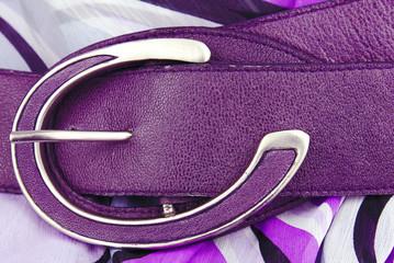 aubergine violet leather belt