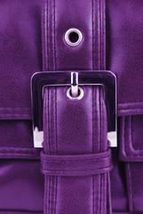 uabergine violet leather bag with buckle
