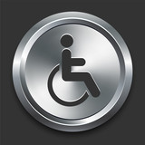 Handicapped Icon on Metal Internet Button