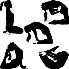Yoga - a variety of exercises--