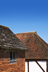 Roofs of tudor buildings