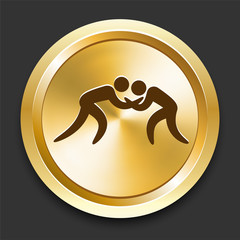 Wrestling on Golden Internet Button