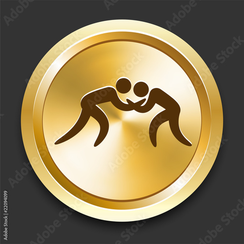 Wrestling on Golden Internet Button