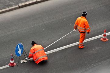 Operatori stradali - posa nastro