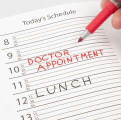 Calendar reminder doctor appointment