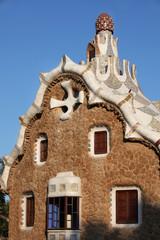 "Parc Güell, Dachkonstruktion ""Zuckerguss"" von  Gaudí"