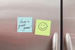 Sticky Notes on a Refrigerator