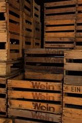 Logo Wein Holzkiste Weinkiste Vino Vin nostalgisch