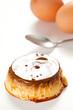 homemade egg flan with caramel