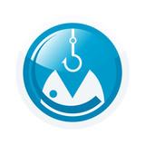 angeln symbol zeichen hobby fischen poster